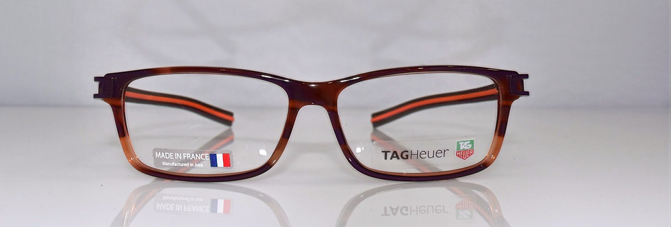 Tag Heuer Authentic Track S Havana Orange TH7601 002 55-17-145 Eyeglasses