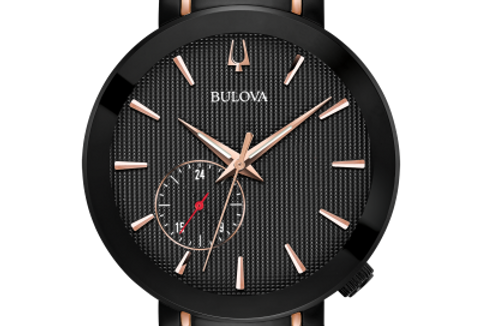 Bulova Latin GRAMMY Rose Gold IP Black 98A188 $595 Watch