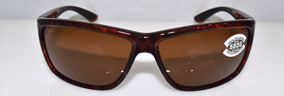 Costa Del Mar Mag Bay Tortoise 580G Glass Lenses Polarized AA10 OCGLP Sunglasses