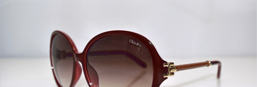 Chloe Bordeaux Oversized CE639SL 603 59-15-135 Sunglasses