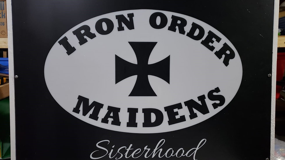 Iron Order Maidens Lighted Sign Raffle!!!