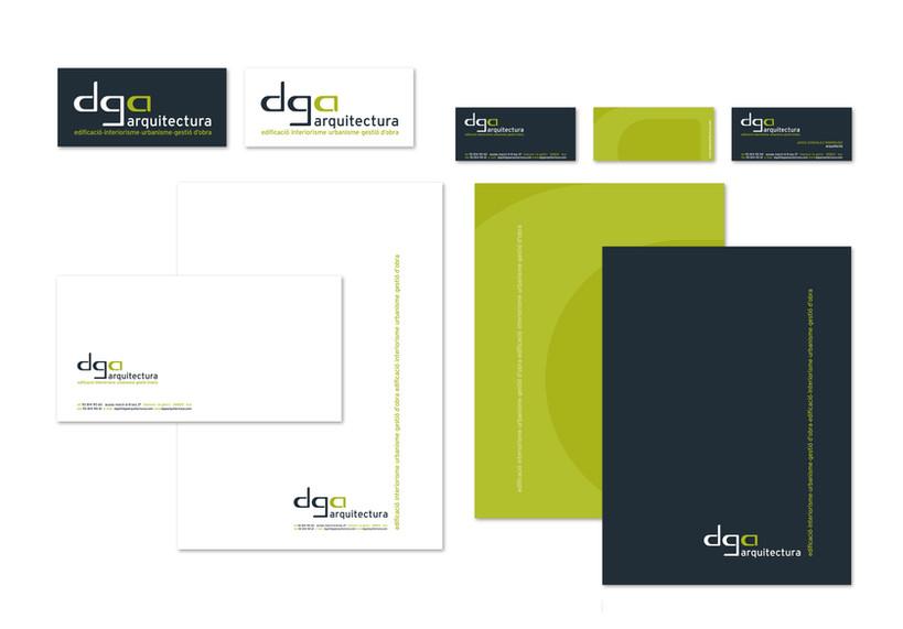 creación de diseño de imagen para despacho de arquitectura y sus aplicciones en papelería