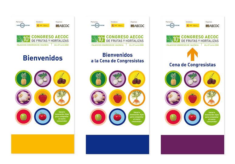AECOC, Cartel Gran format Congreso de Frutas y Hortalizas