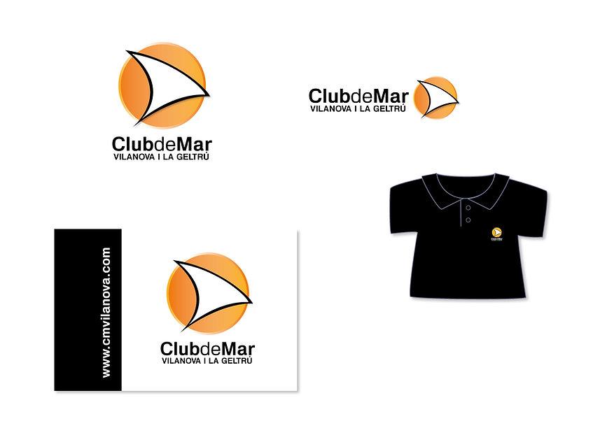 Disseny de logo per a Club de Mar Vilanova i la Geltrú