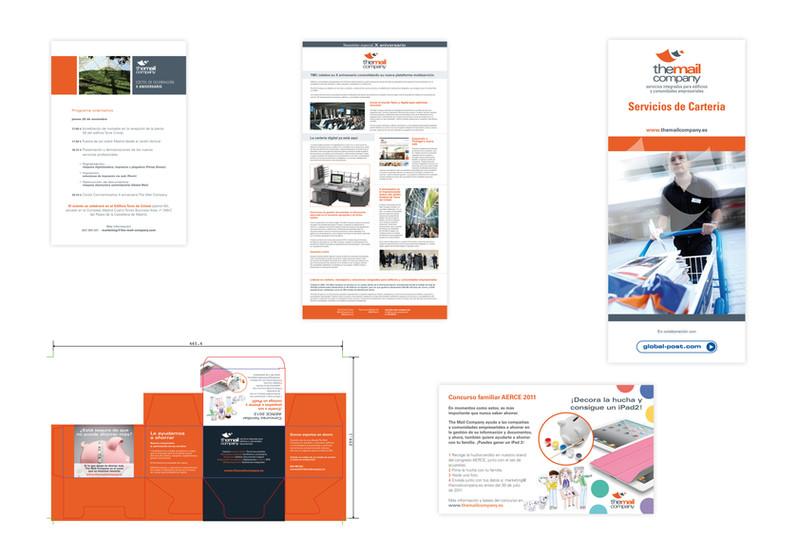 folletos y carteles para the mail company