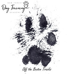 off the beaten tracks Paw print with tex