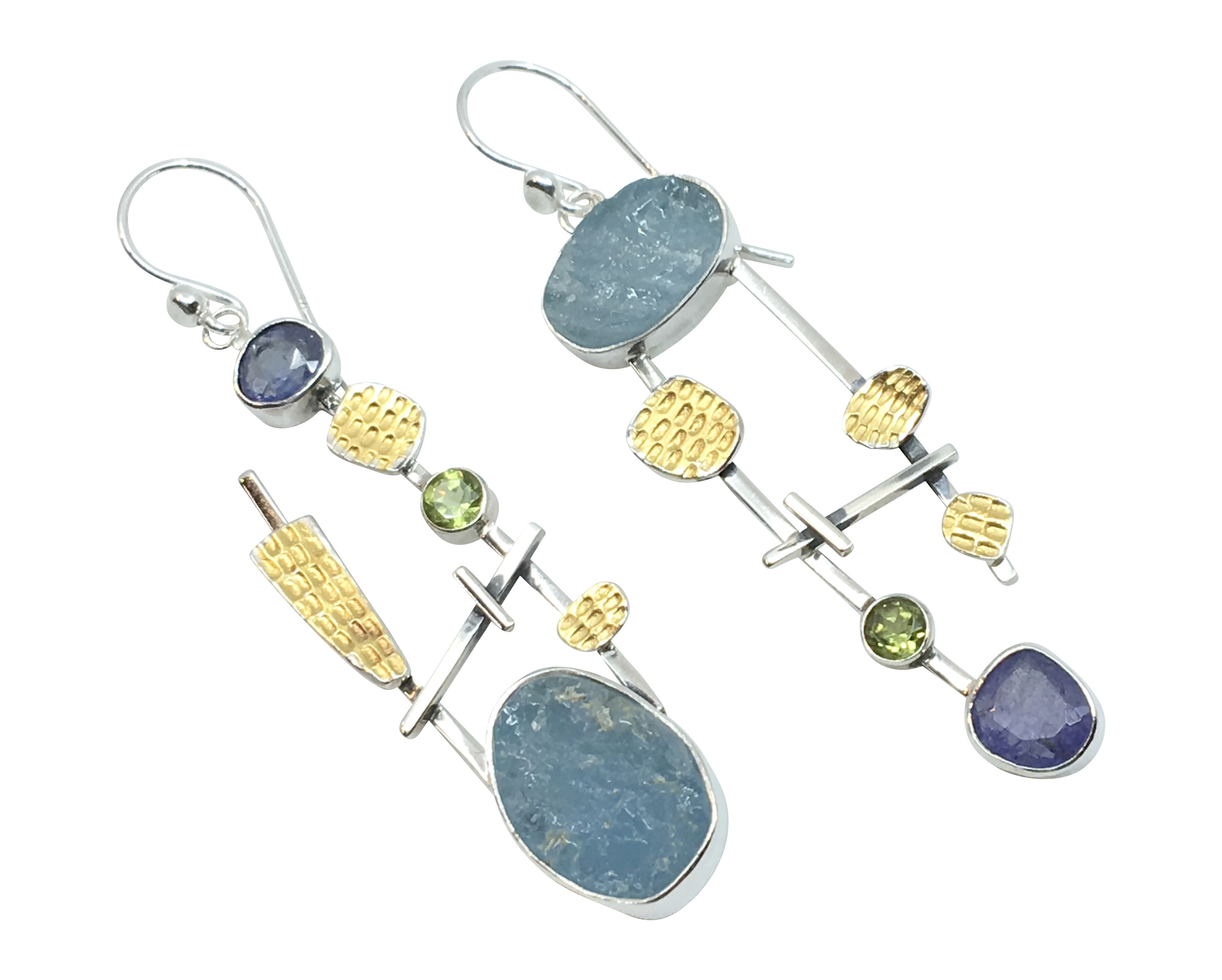 Aquamarine/Tanzanite Earrings