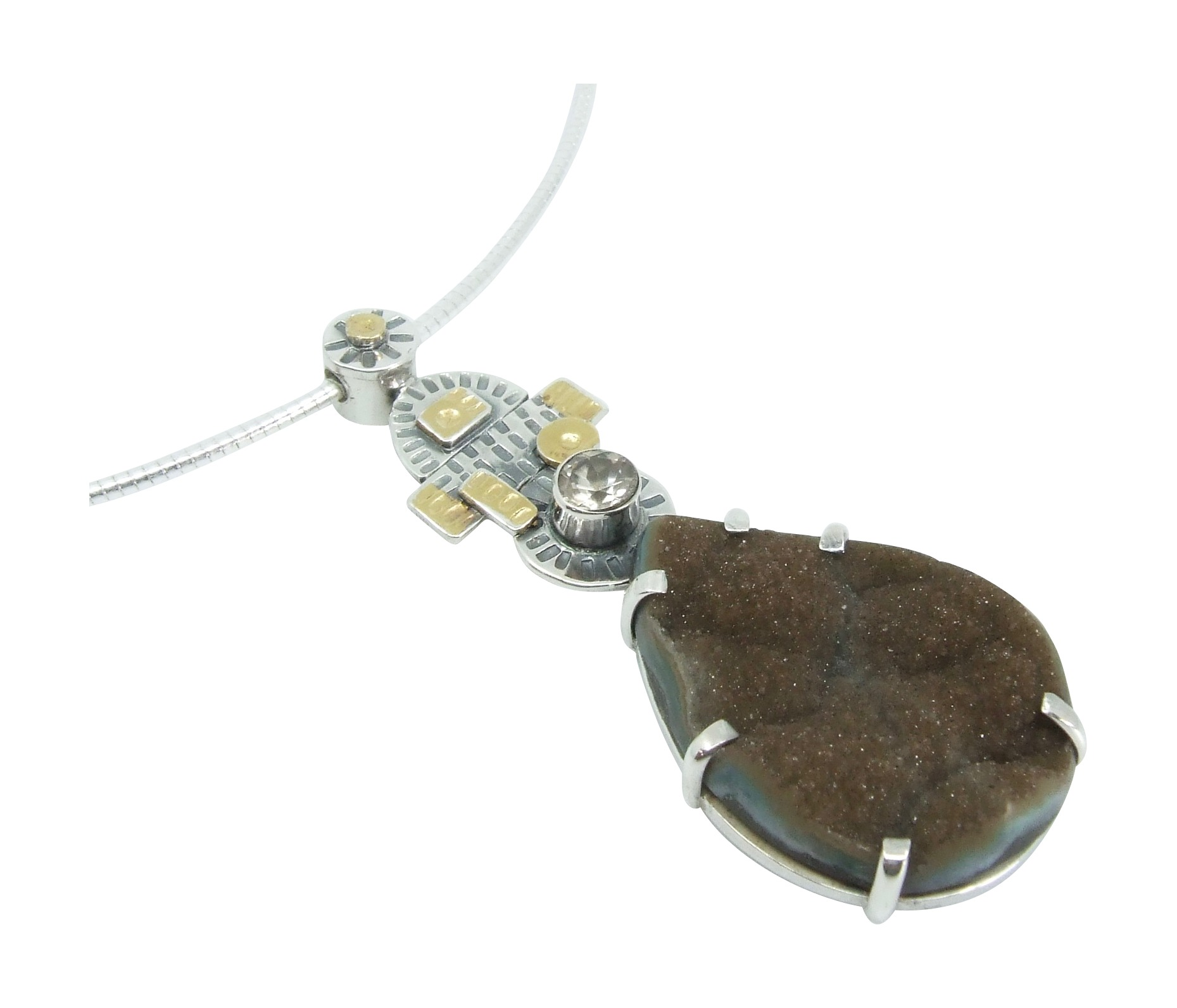 Chocolate Druzy Pendant