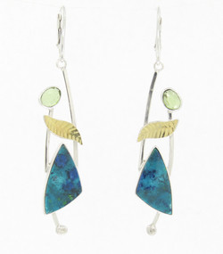 Shattuckite Earrings