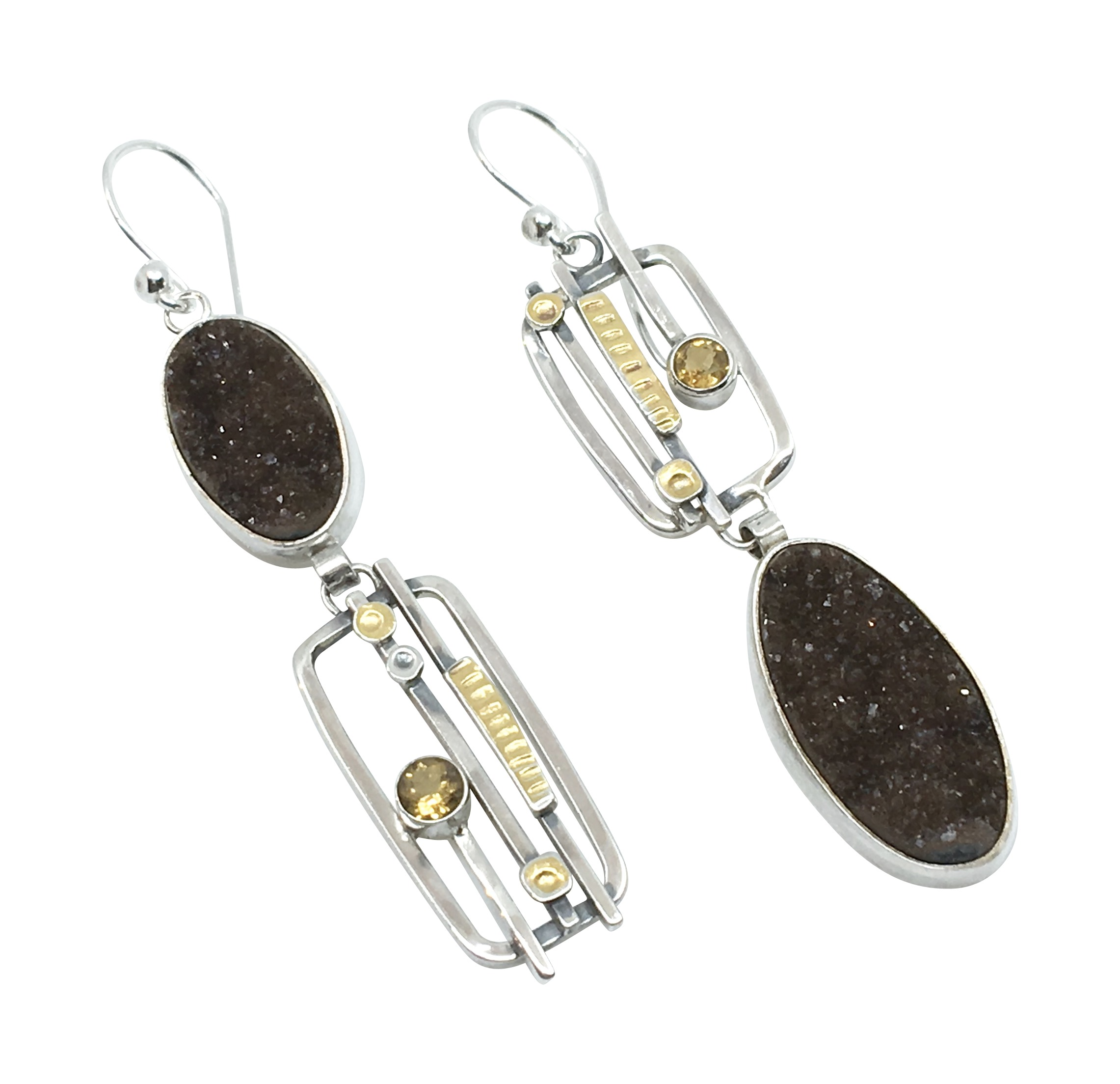 Chocolate Druzy Earrings
