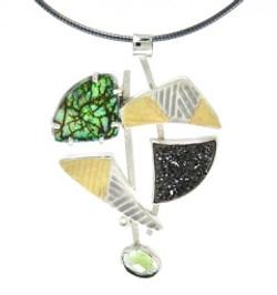 Opal & Druzy Pendant