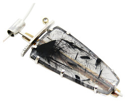 Black Tourmaline/Quartz Pendant
