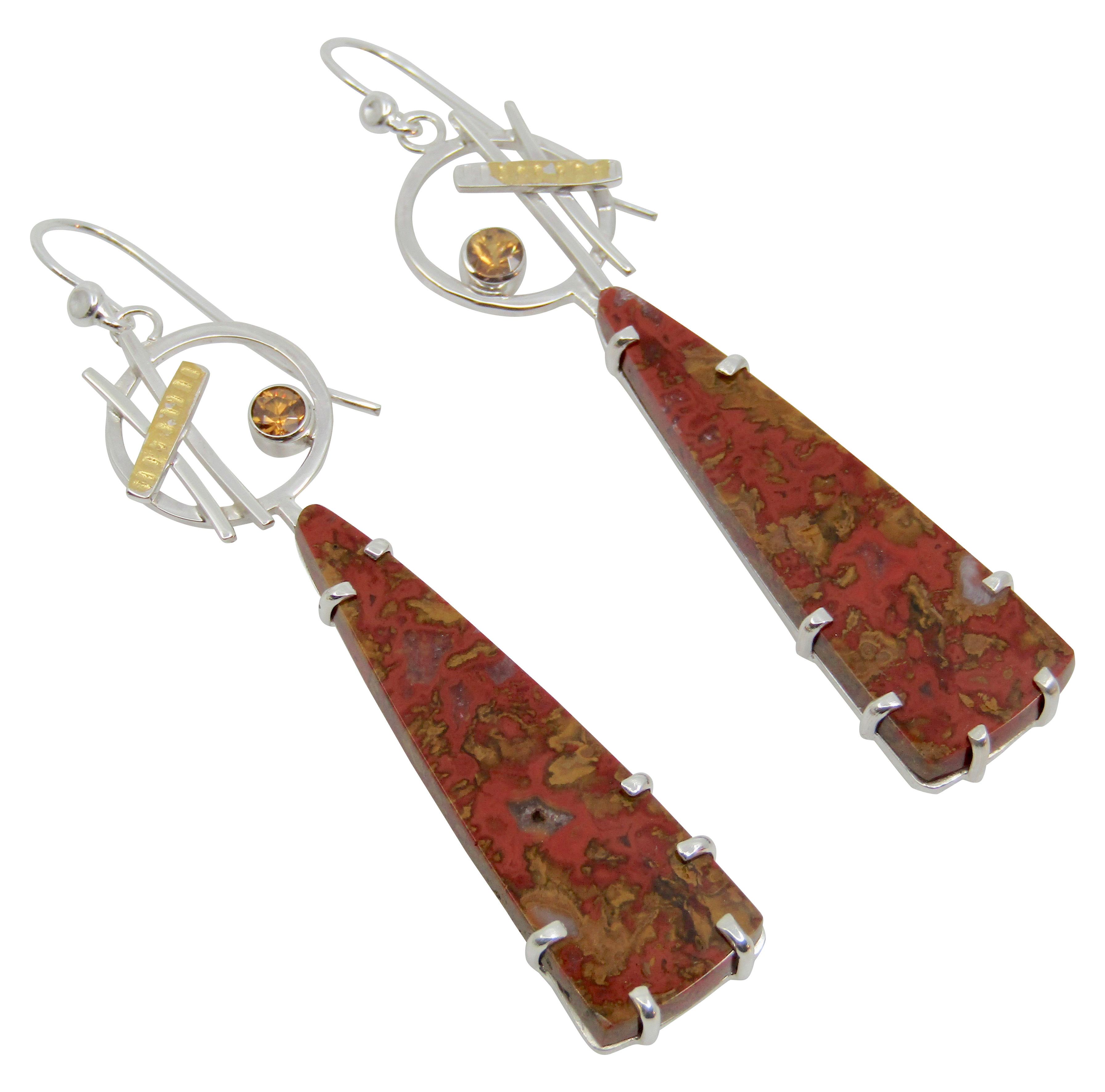 Moroccan Seam Agate Earrings