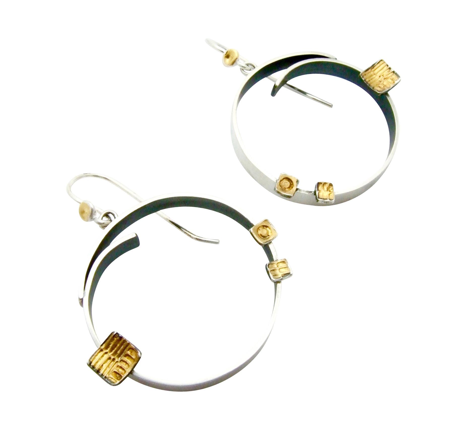 Round Juxtapose Earrings