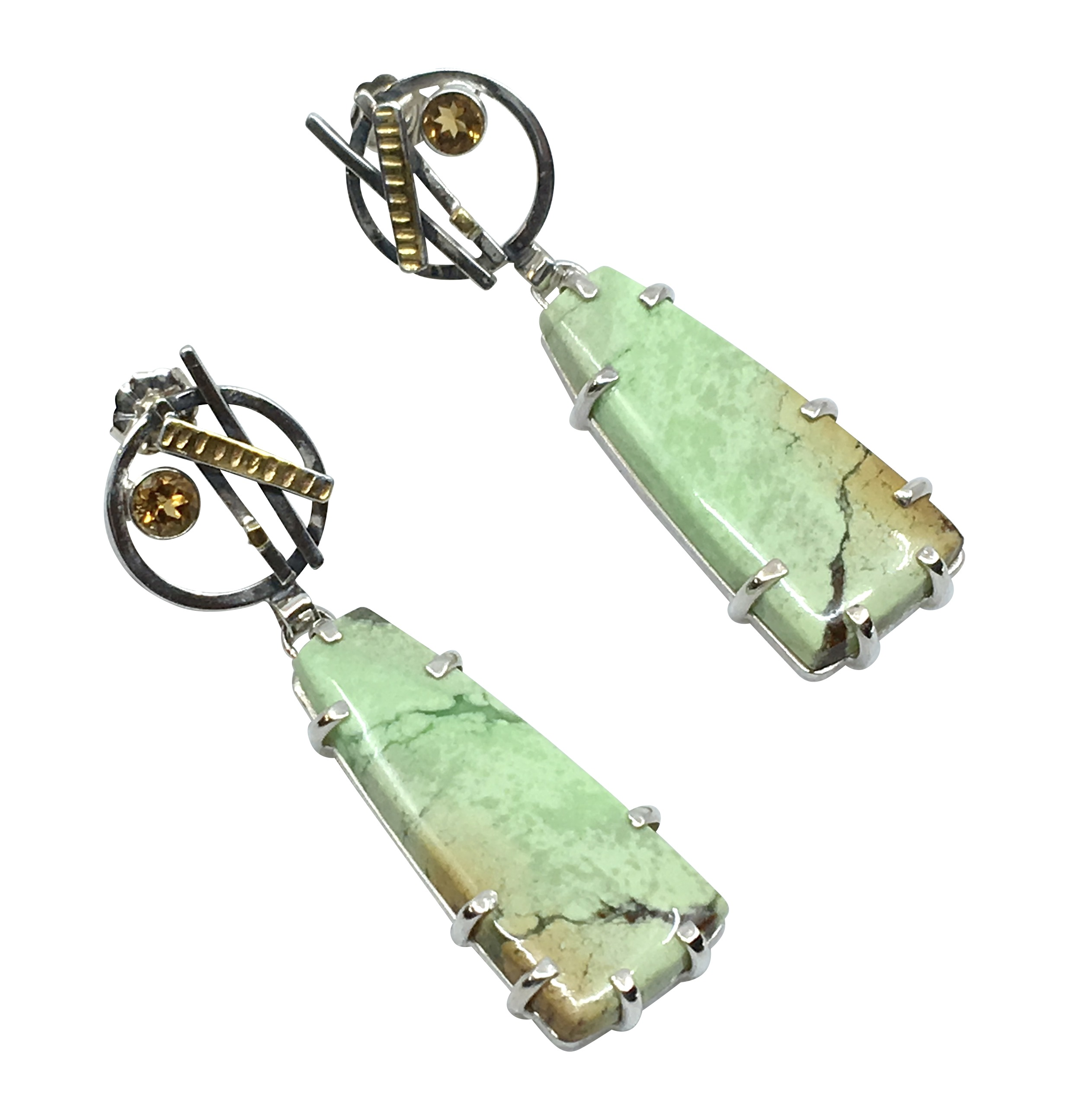 Lemon Chrysoprase Earrings