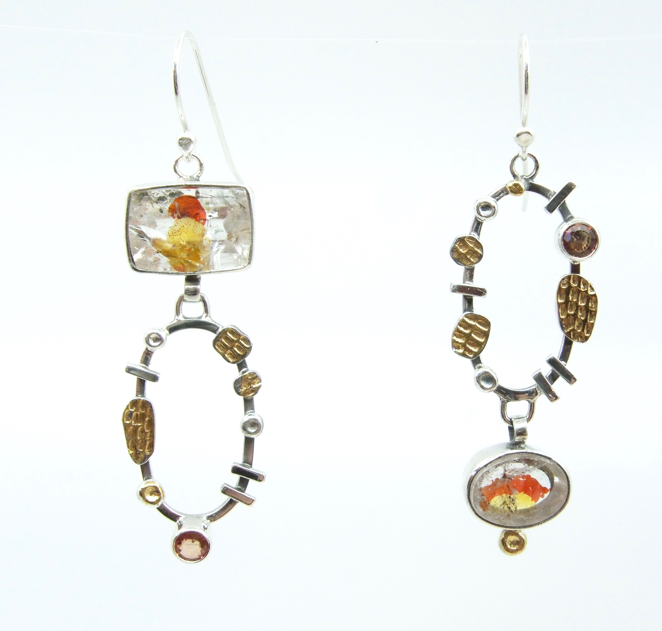 Iron Oxide Quartz Earrings