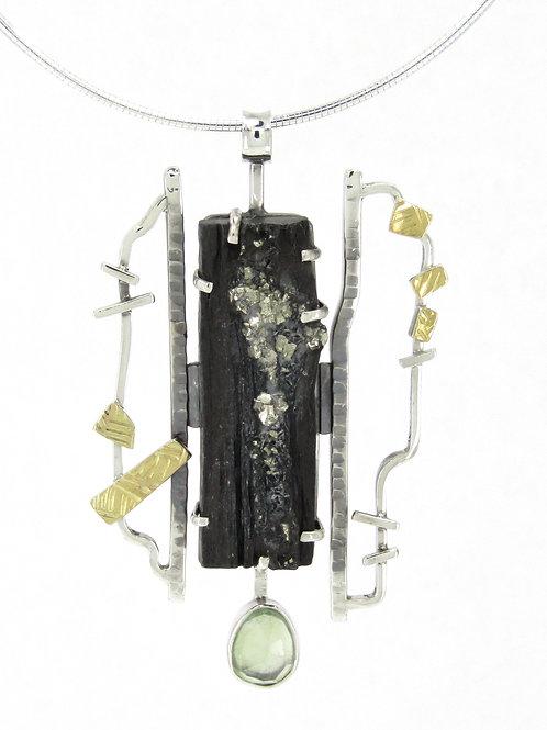 Pyrite and Slate Pendant