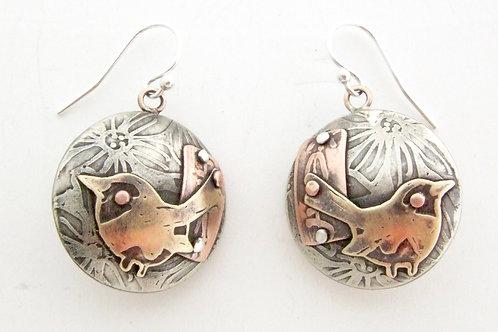 Sazai - Japanese Wren Earrings