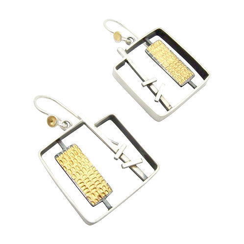 Juxtapose Square Earrings