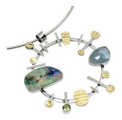 Opal & Aquamarine Pendant