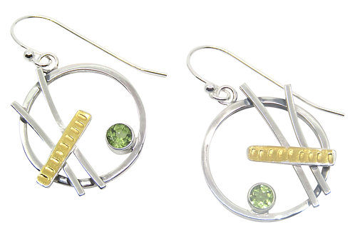 Round Peridot Earrings