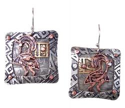 Square Ibis Earrings