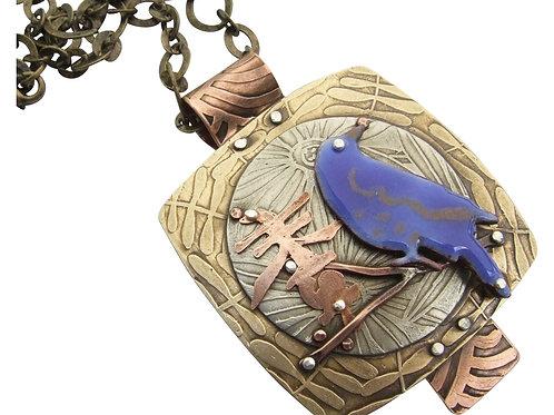 Blue Bird of Happiness Pendant