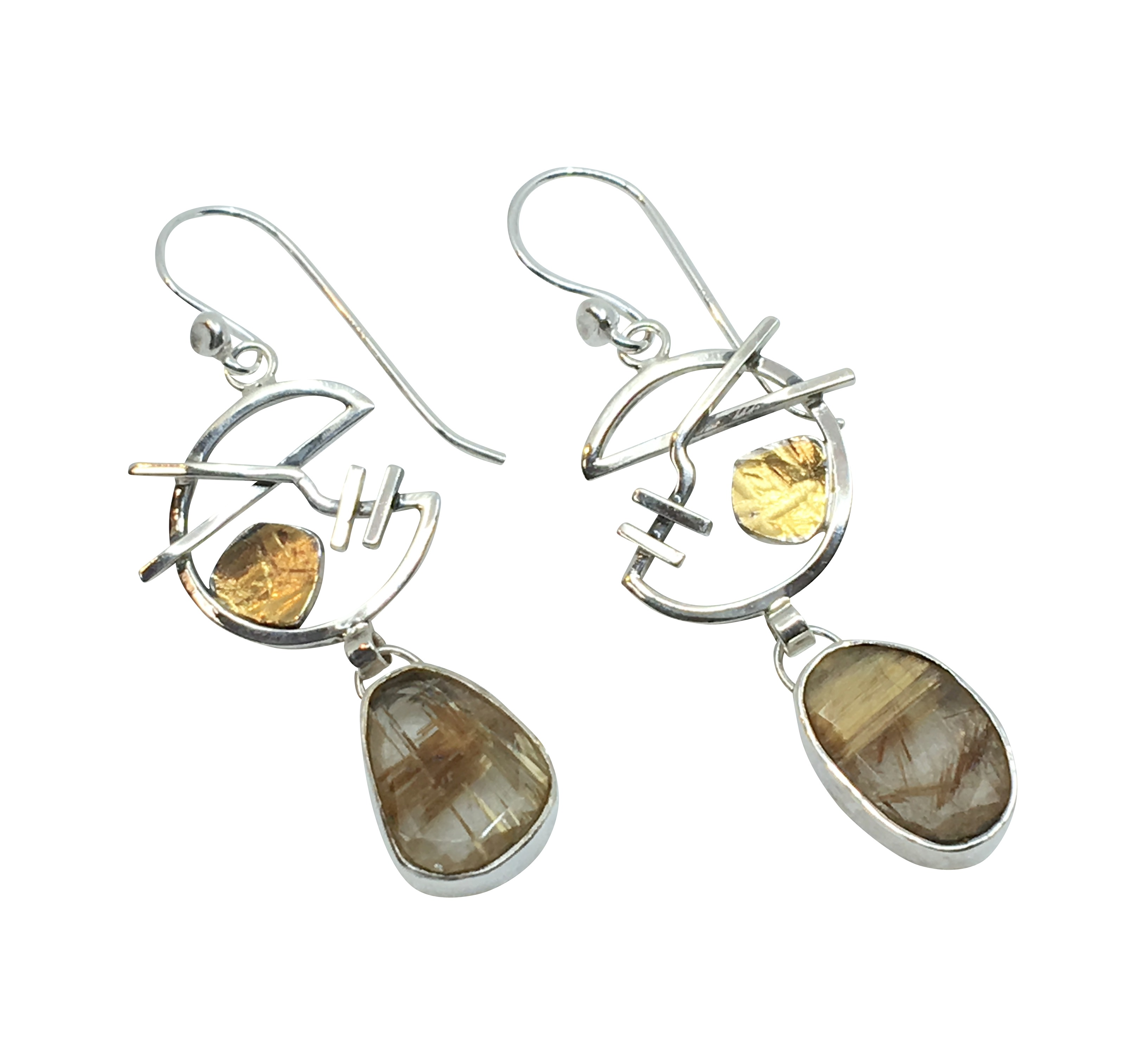 Golden Rutile Earrings