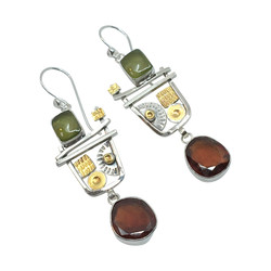 Hessonite Garnet Earrings