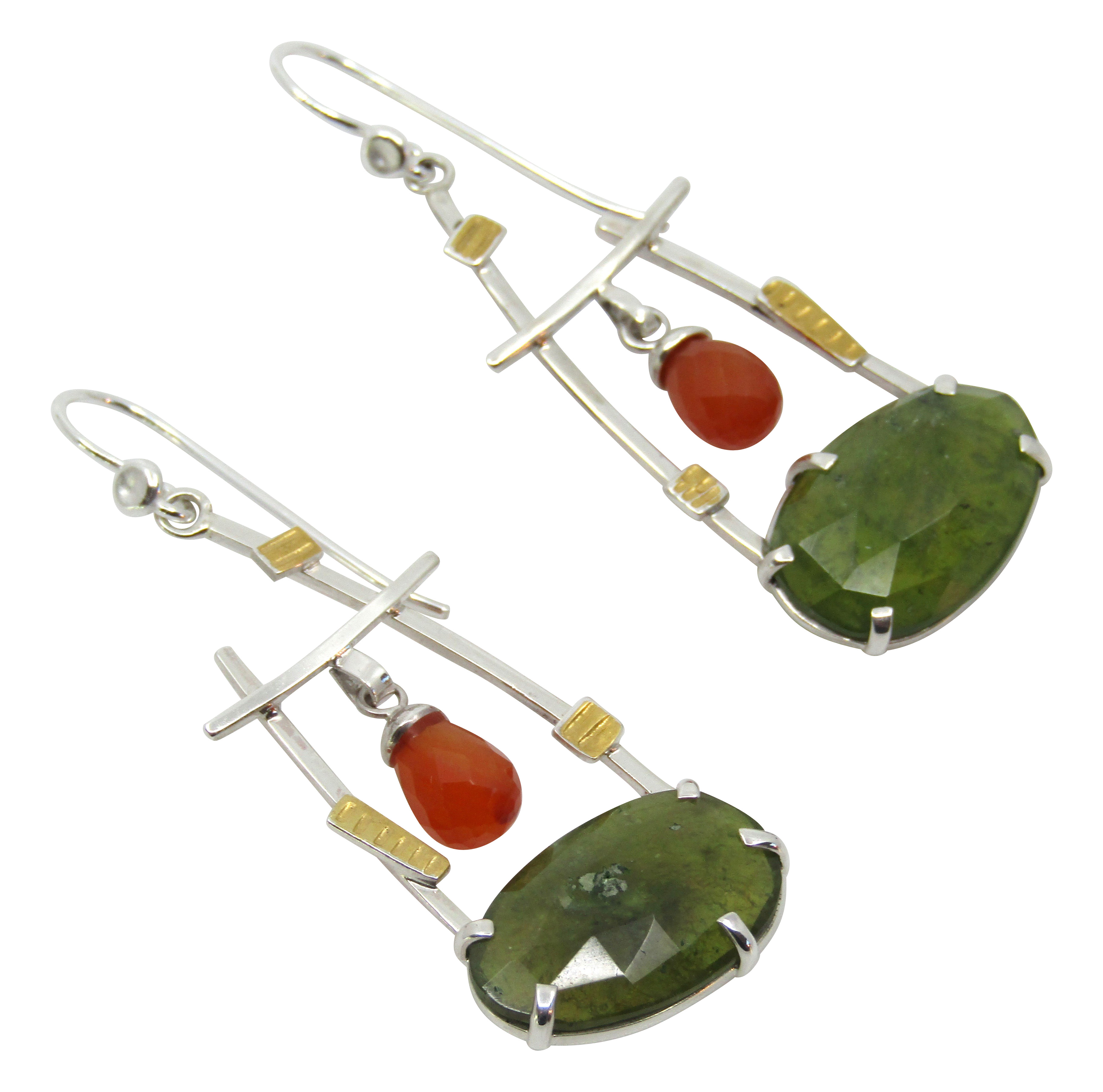 Vesuvianite Earrings
