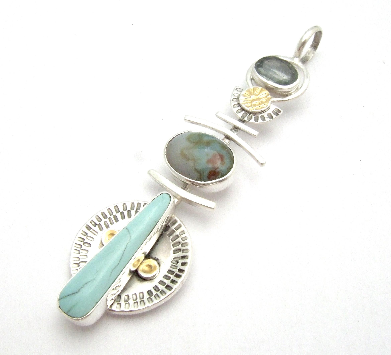 Turquoise & Ocean Jasper Pendant
