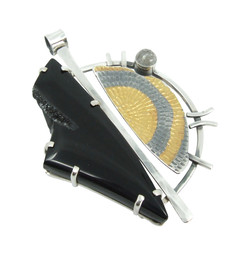 Black Agate Druzy Pendant