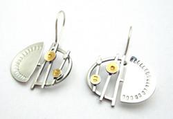 Small Atomic Garden Earrings