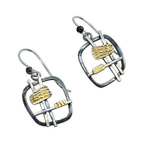 SM Sterling silver gold Earrings