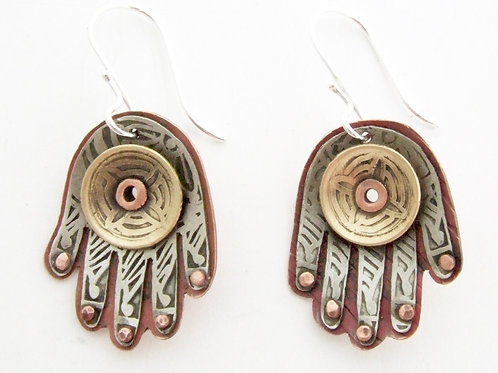 Hamsa Earrings
