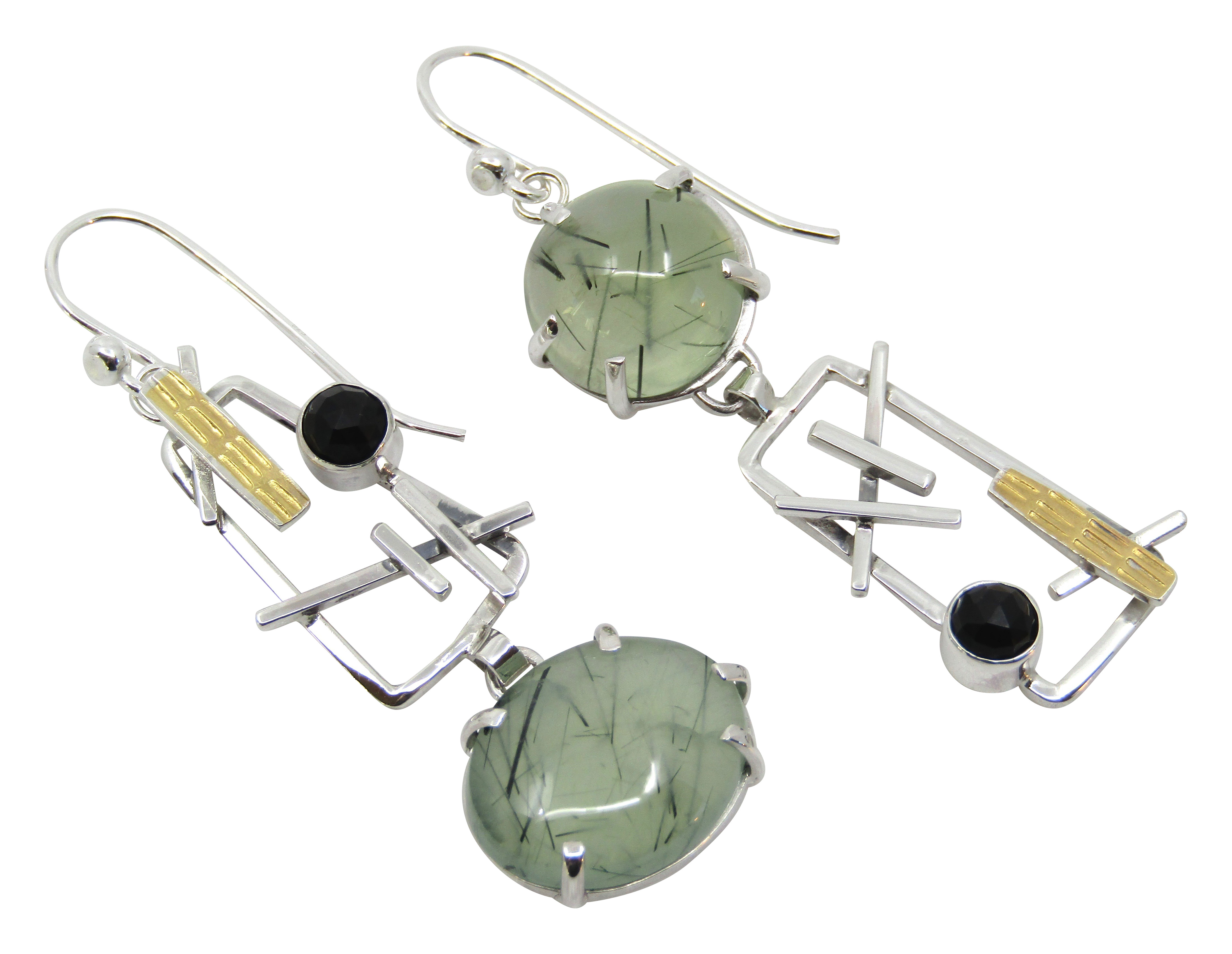 Prehnite Earrings -Asym.