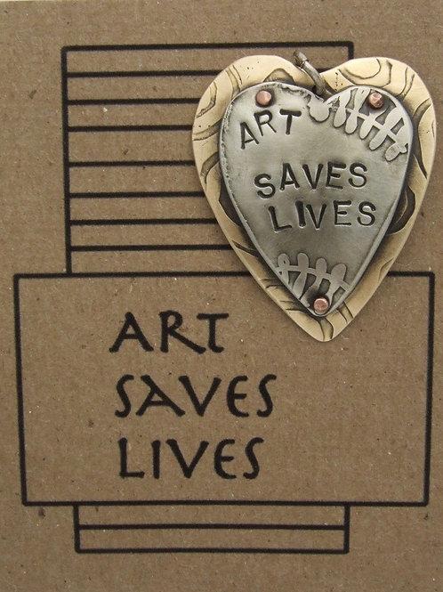 Art Saves Lives Pin