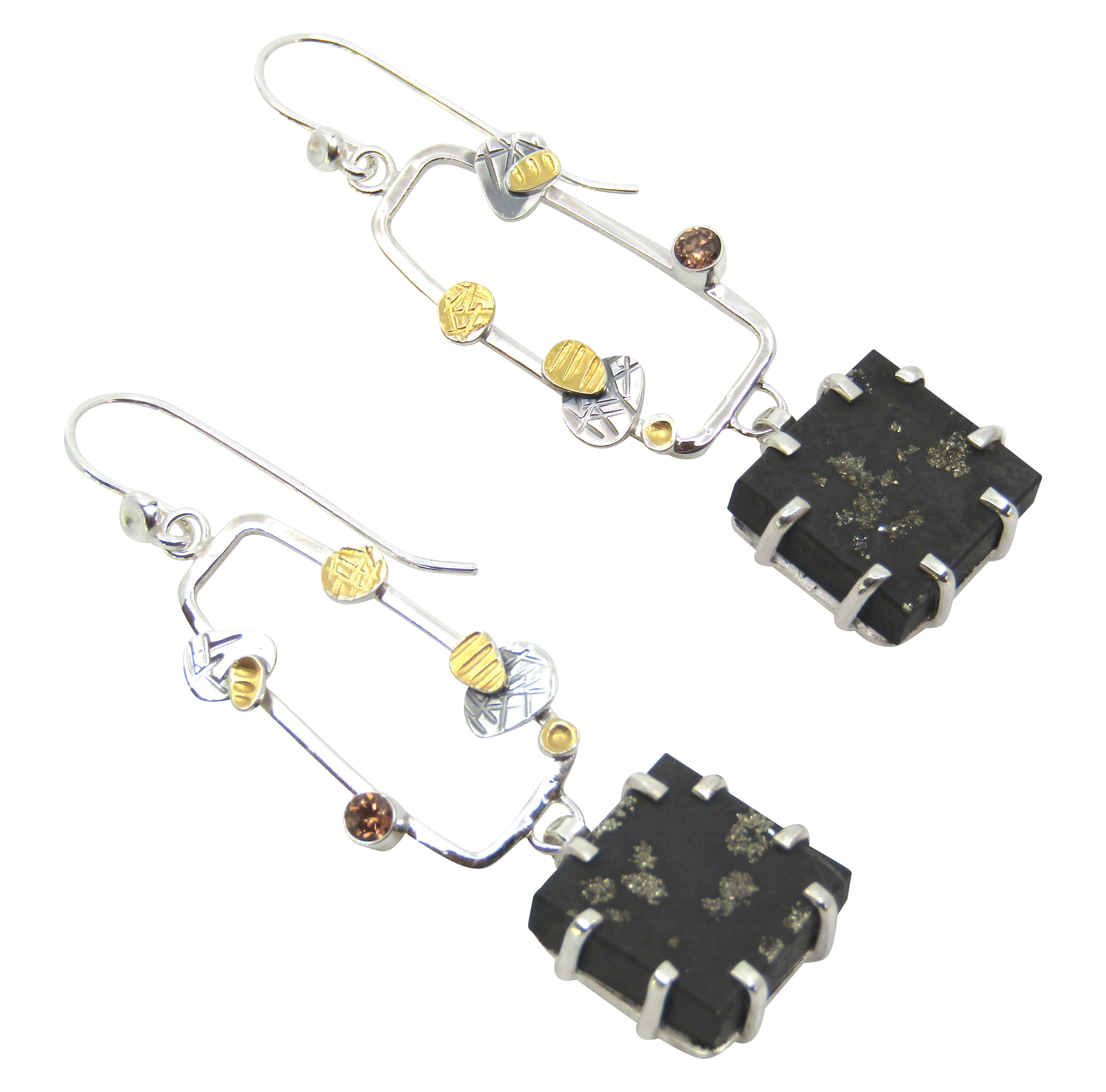 Pyrite & Slate Earrings