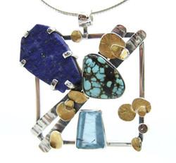 Lapis & Turquoise Pendant
