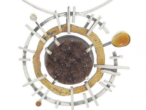 Chocolate Galaxy Pendant