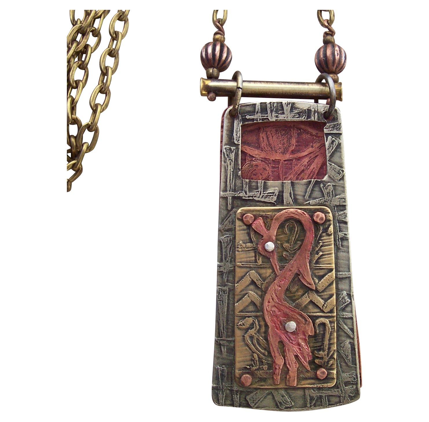 Crested Crane Pendant