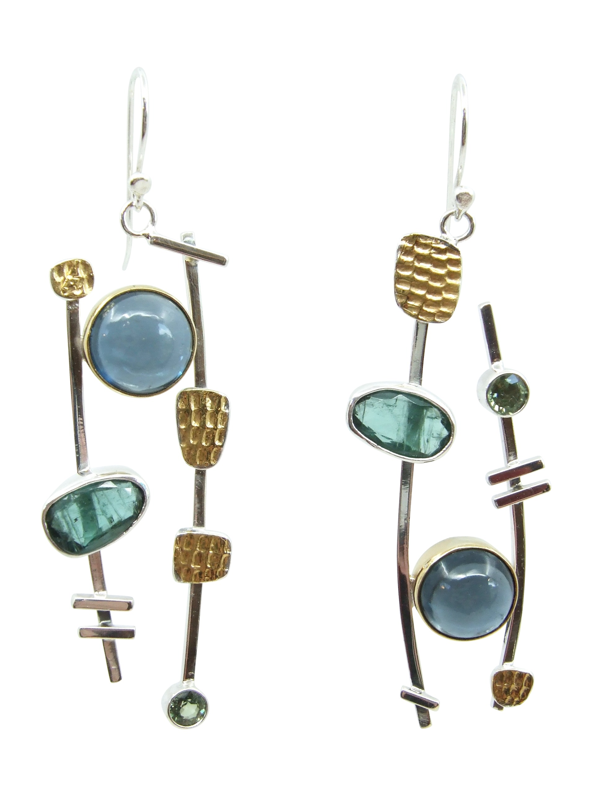 topaz & Tourmaline Earrings