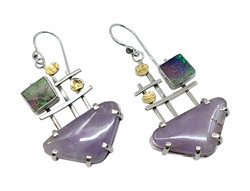 Amethyst & Opal Earrings