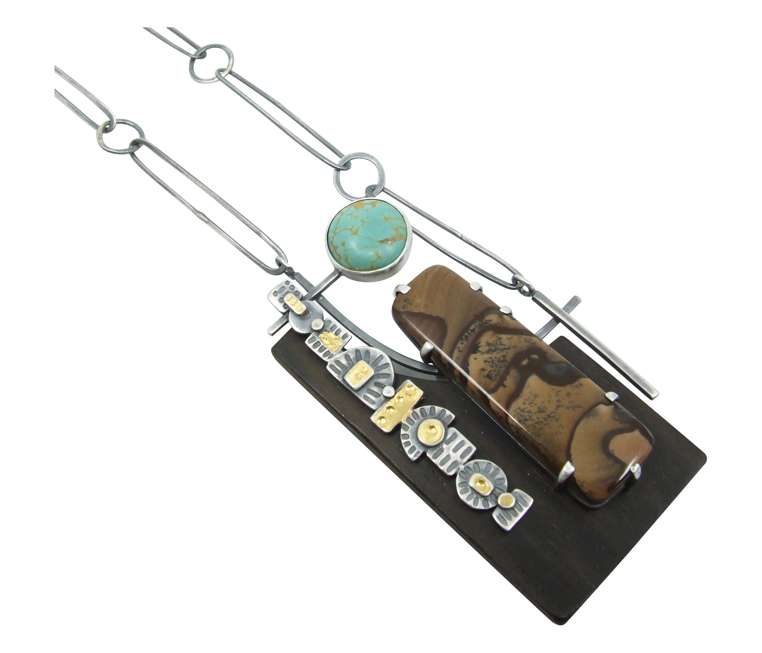 Biggs Jasper & Turquoise Pendant