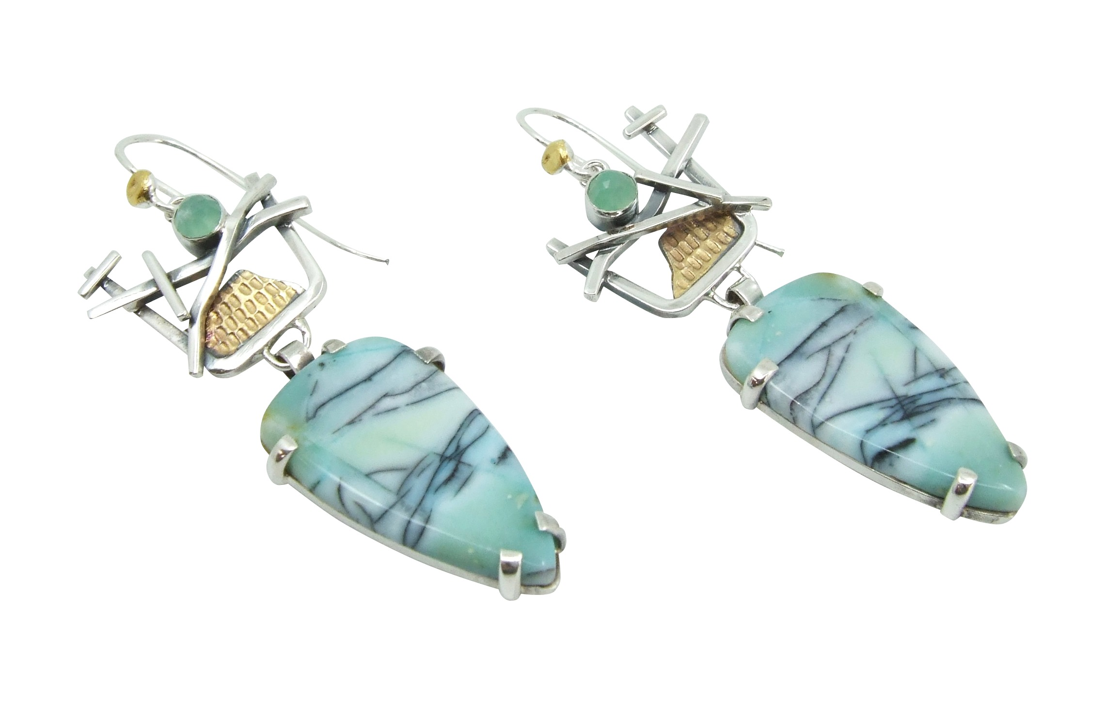 Opalized Petrified Wood Earrings