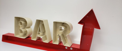 Directional Arrow Combined with Channel Letters