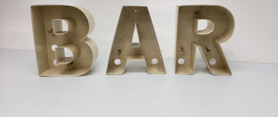 B-A-R Channel Letters Front View