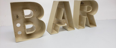 B-A-R Channel Letters Side View