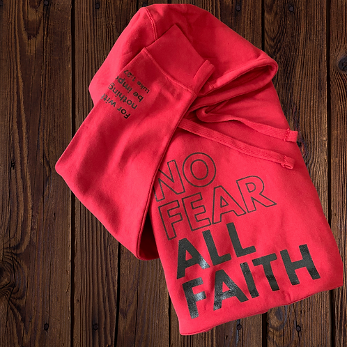 Red No Fear Hoodie