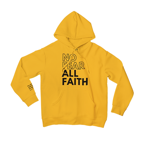 Gold No Fear Hoodie